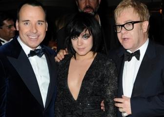 David Furnish, Lily Allen, Sir Elton John