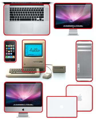 Apple: zaokrąglone prostokąty