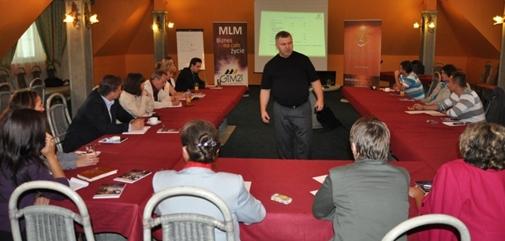 Wykład Piotra Zarzyckiego w ramach Instytutu Edukacji MLM