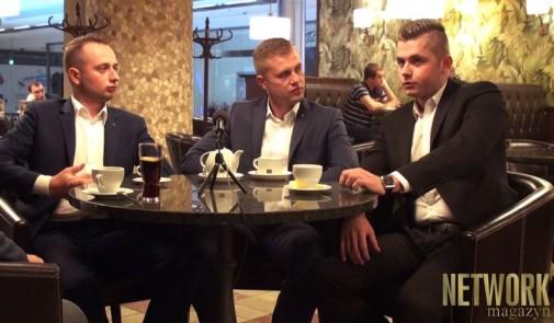 Od lewej: Artur Kałuża, Jan Buzalewicz, Piotr Robacki