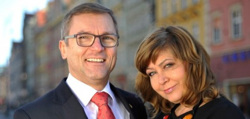 Jacek Bartkowiak z żoną Marysią